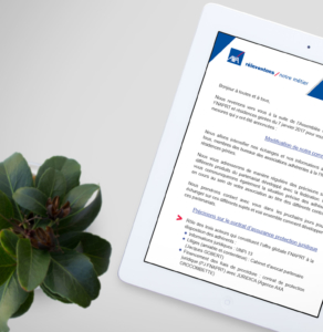 axa newsletter - tablette 3 - réalisations - tao sense - 2018